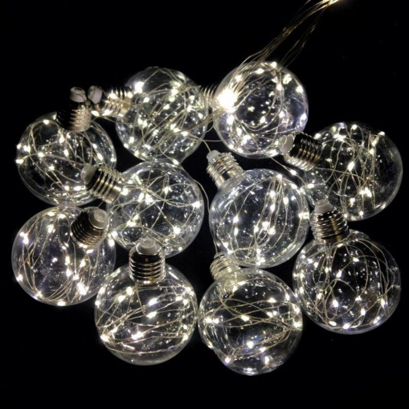 Светодиодная гирлянда Ретро-лампы, свечение белое теплое