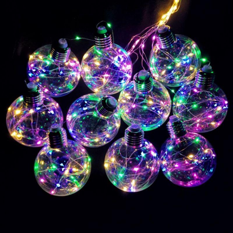 Светодиодная гирлянда Ретро-лампы, свечение разноцветное