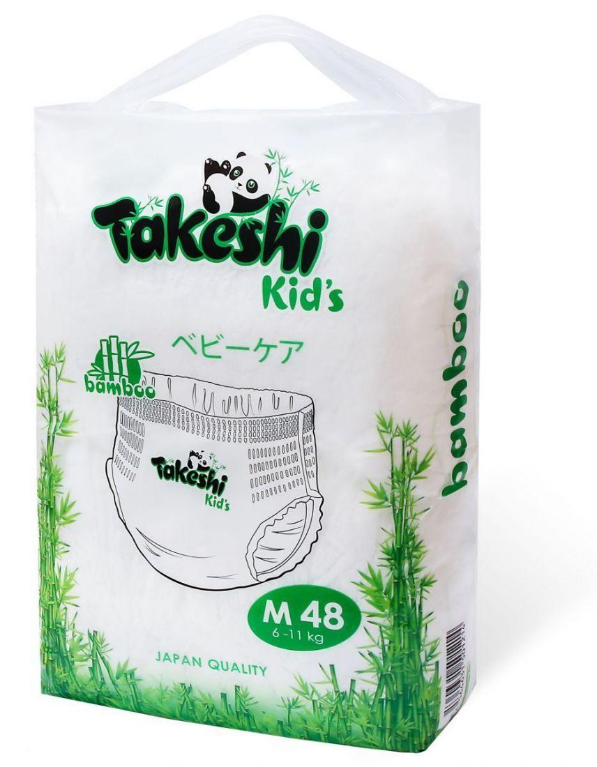 Takeshi Kids 6-11 кг М 48 шт,Трусики Универсальные