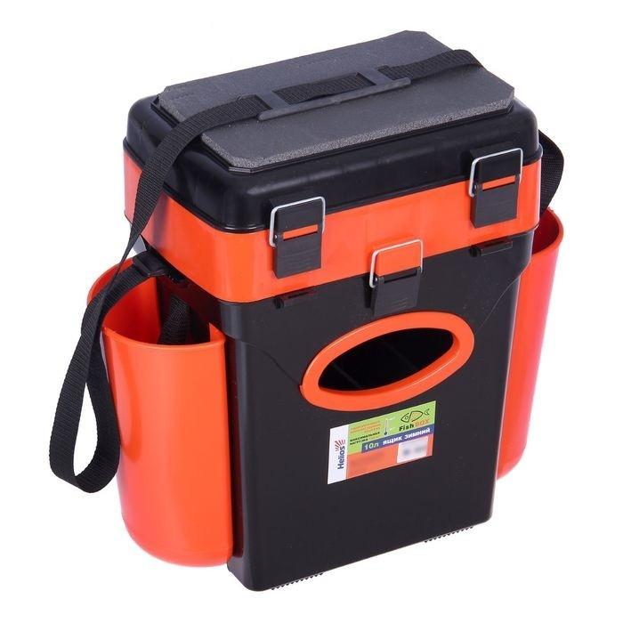 Ящик зимний HELIOS  (Тонар) 10л оранжевый