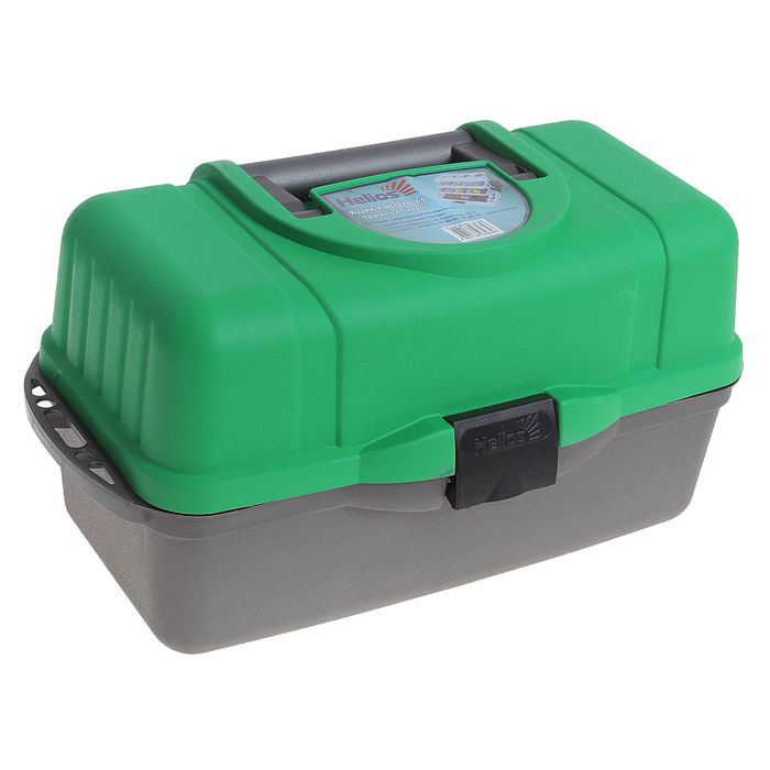 Ящик летний трехполочный HELIOS (зеленый)