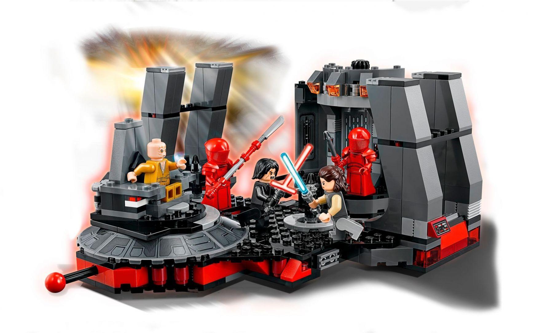 Лего звёздные войны тронный зал сноука