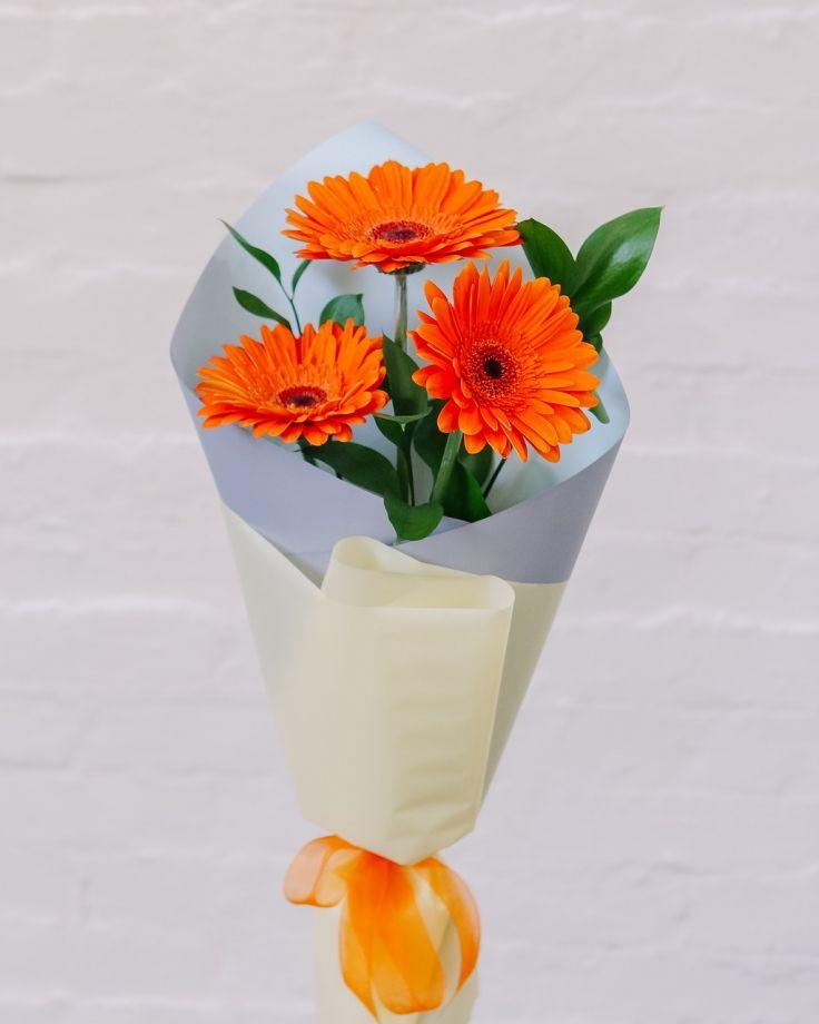 Букет цветов из 3 Гербер