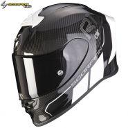 Шлем Scorpion EXO-R1 Air Carbon Air Corpus II, Черно-белый