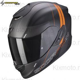 Шлем Scorpion EXO-1400 Carbon Air Drik, Черный матовый с оранжевым