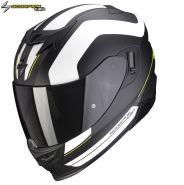Шлем Scorpion EXO-520 Air Lemans, Черный матовый с белым