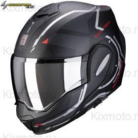 Шлем Scorpion EXO-Tech Square, Черный матовый с красным