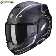 Шлем Scorpion EXO-Tech Square, Черный матовый с желтым