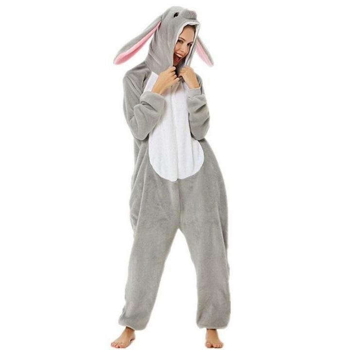 Пижама Кигуруми Заяц Серый