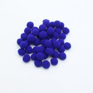 Помпоны, размер 25 мм, цвет 17 синий (1уп = 50шт)