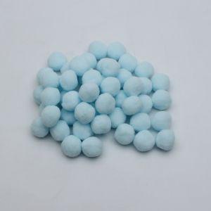 Помпоны, размер 25 мм, цвет 21 светло-голубой (1уп = 50шт)