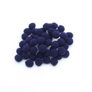Помпоны, размер 25 мм, цвет 41 чернильно-синий (1уп = 50шт)
