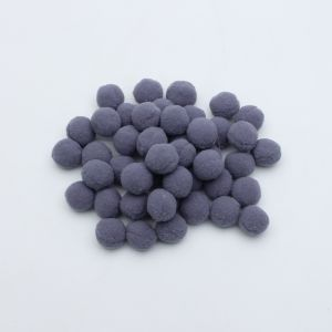 Помпоны, размер 25 мм, цвет 46 темно-серый (1уп = 50шт)