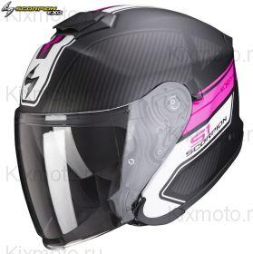 Шлем Scorpion EXO-S1 Cross-Ville, Черный матовый с розовым