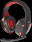 Гарнитура Defender Warhead G-370, черный/красный, игровая