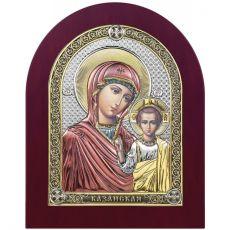Казанская икона БМ цветная эмаль с деревянной рамой
