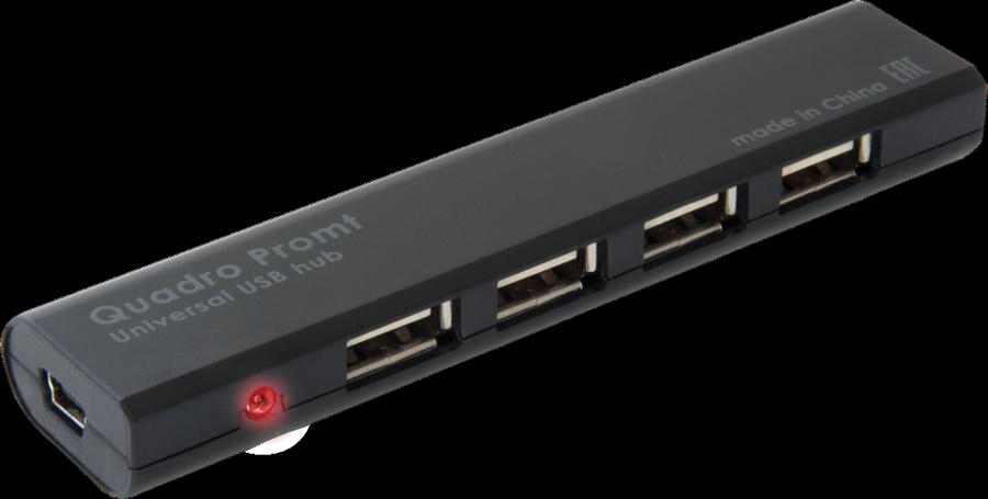HUB DEFENDER #1 QUADRO Promt USB 2.0, 4 порта