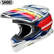 Шлем Shoei VFX-WR Pinnacle, Бело-красно-синий