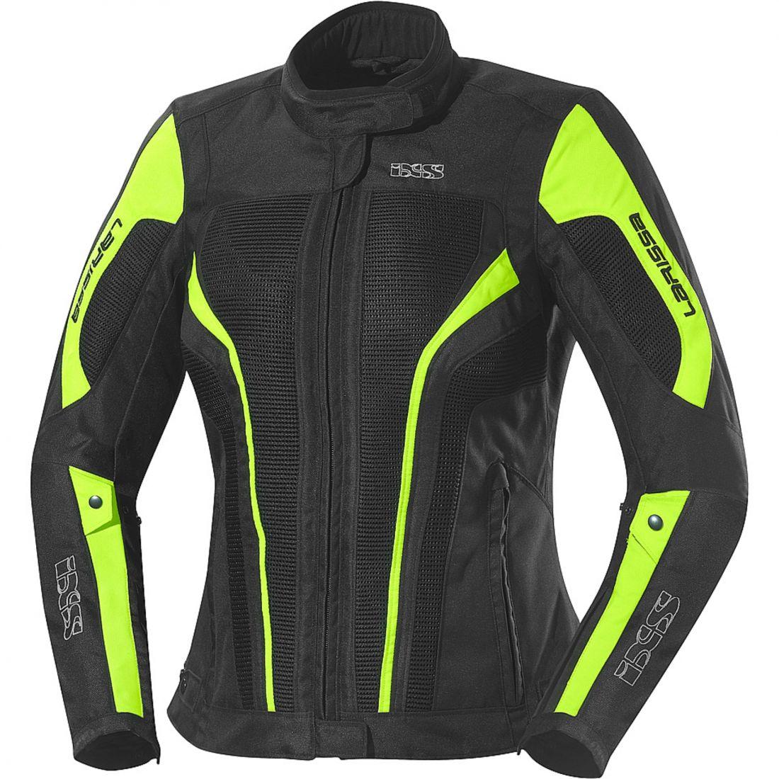 Текстильная женская куртка Larissa чёрная/флуоресцентно-желтая