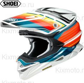 Шлем Shoei VFX-WR Pinnacle, Бело-сине-оранжевый