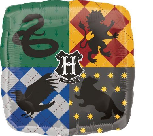 Герб Хогвартса Гарри Поттер квадратный шар фольгированный с гелием