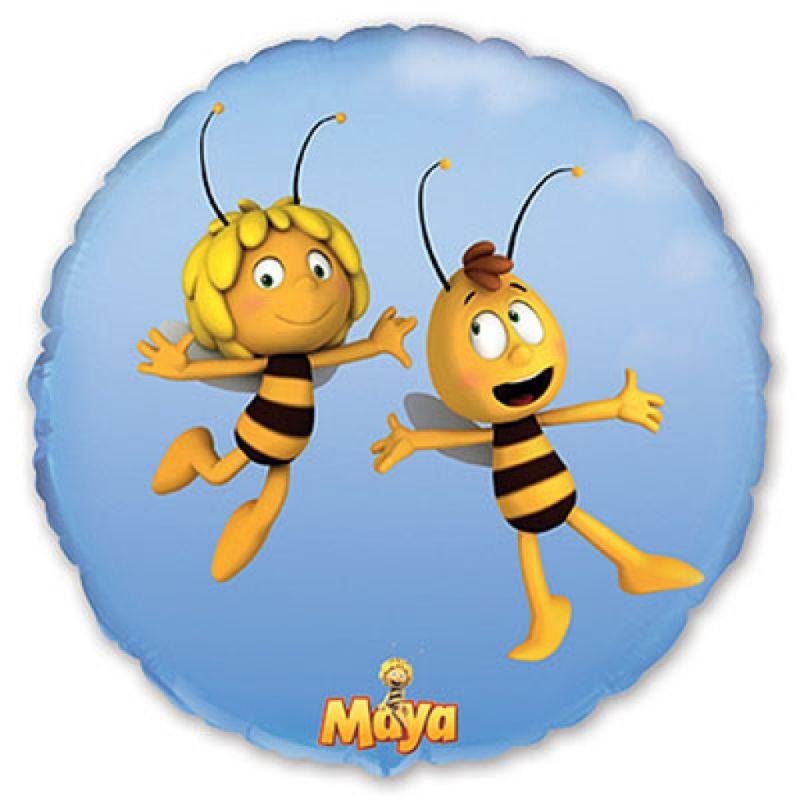Пчёлка Майя круглый шар фольгированный с гелием