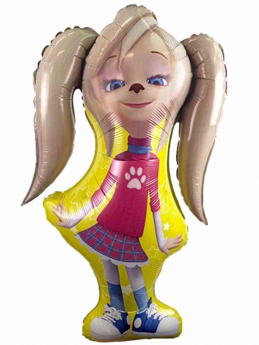 Роза Барбоскина фигурный шар фольгированный с гелием
