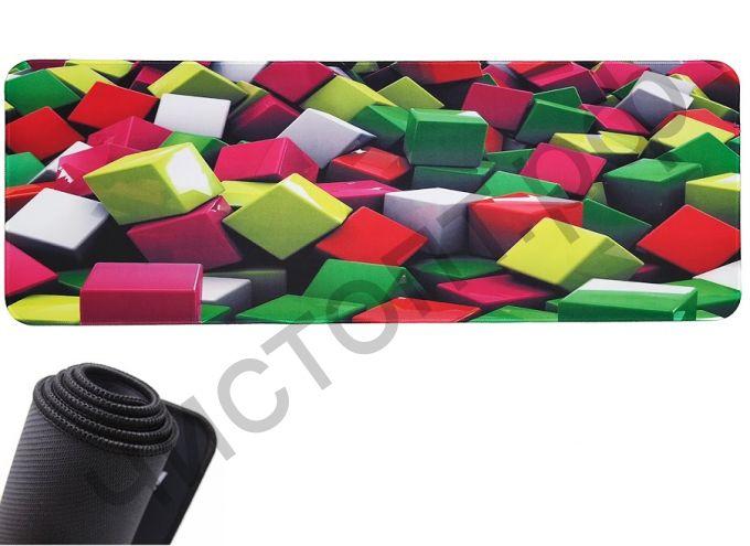 Коврик для мыши OT-PCM62 (Кубики, 30*80см)