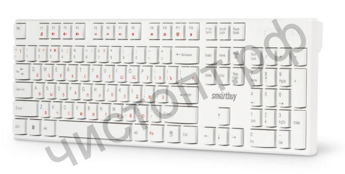 Клавиатура провод. Smartbuy ONE 238 USB белая (SBK-238U-W)