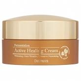 Крем для лица питательный кислородный Deoproce Fermentation Active Healing Cream, 100 мл