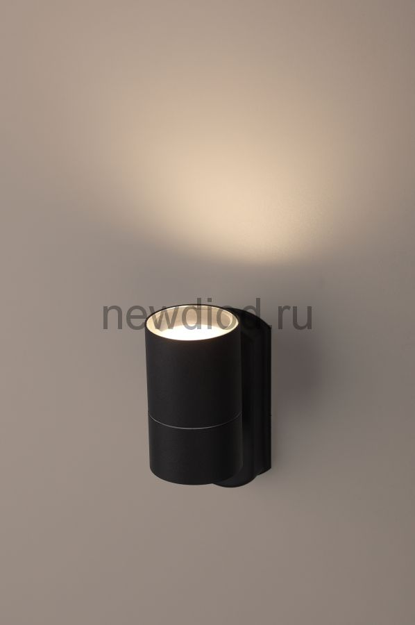 Светильник WL27 BK Декоративная подсветка GU10 MAX35W IP54 черный ЭРА