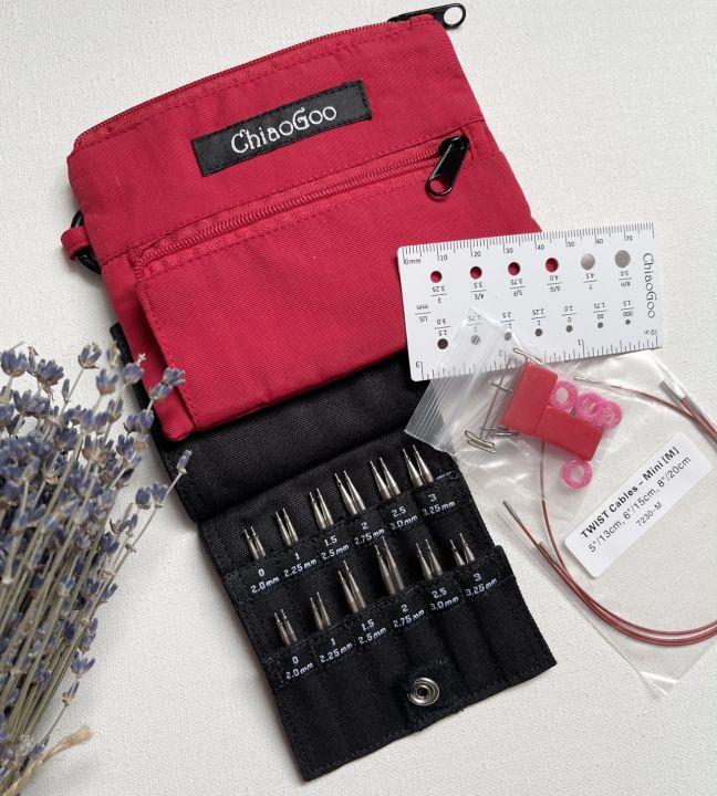 Набор съемных коротких спиц 5-8 см Chiaogoo TWIST Red Shorties Mini