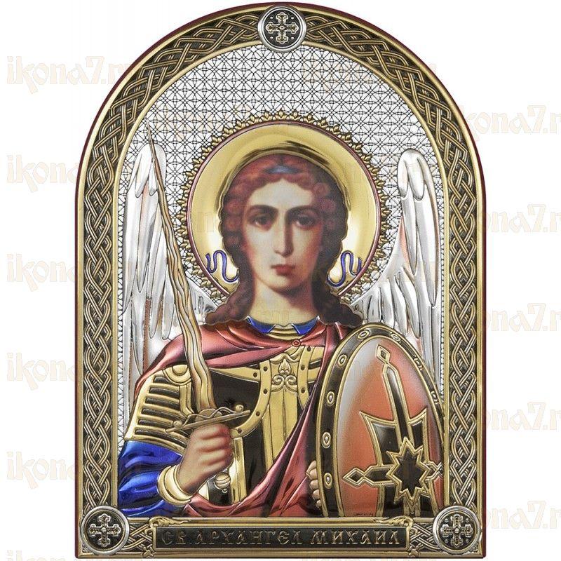 Икона Архангел Михаил цветная эмаль