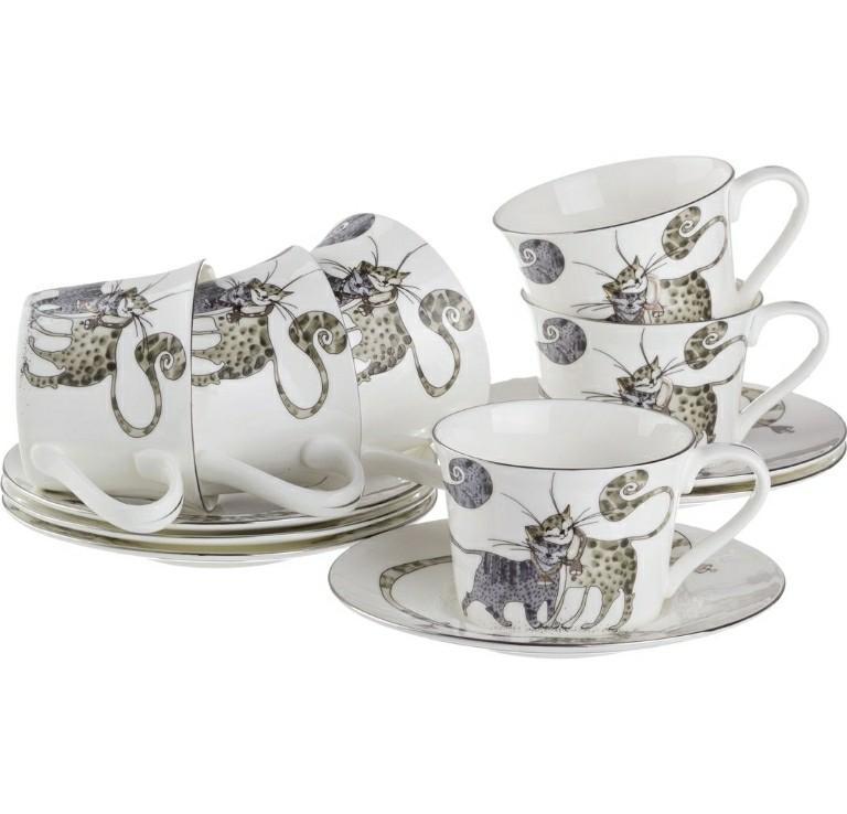 """Чайный набор """"Котики"""" на 6 персон"""
