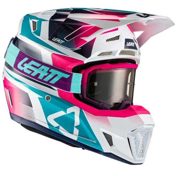 Leatt Kit Moto 7.5 V21.3 Pink комплект шлем внедорожный и очки