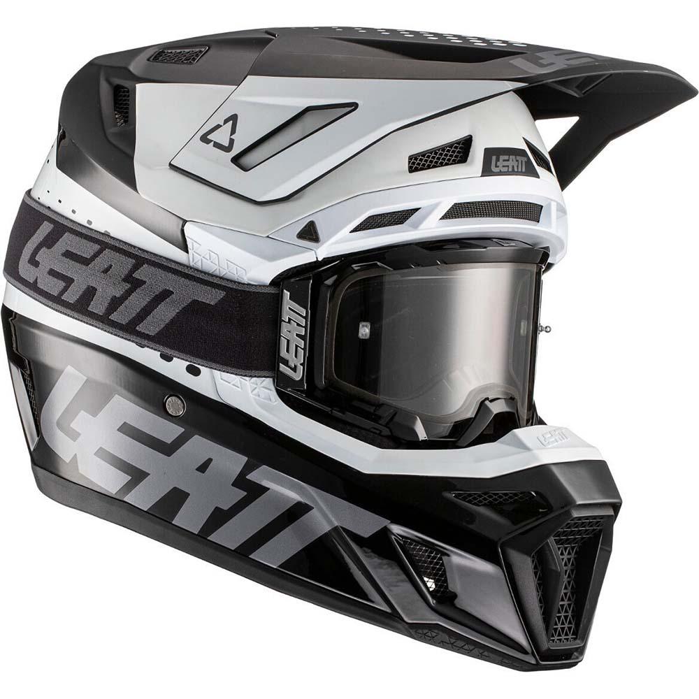 Leatt Kit Moto 8.5 V21.1 Black/White комплект шлем внедорожный и очки