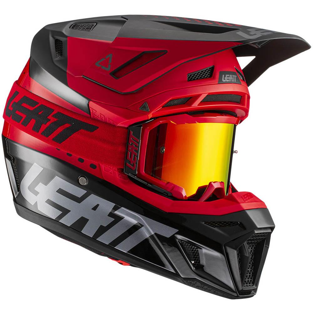 Leatt Kit Moto 8.5 V21.1 Red комплект шлем внедорожный и очки