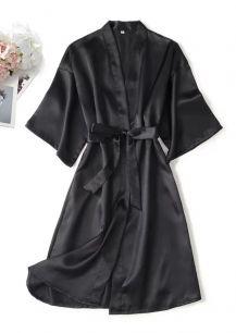 халатик армани шелк, черный, размер 46,48,50  модель 722