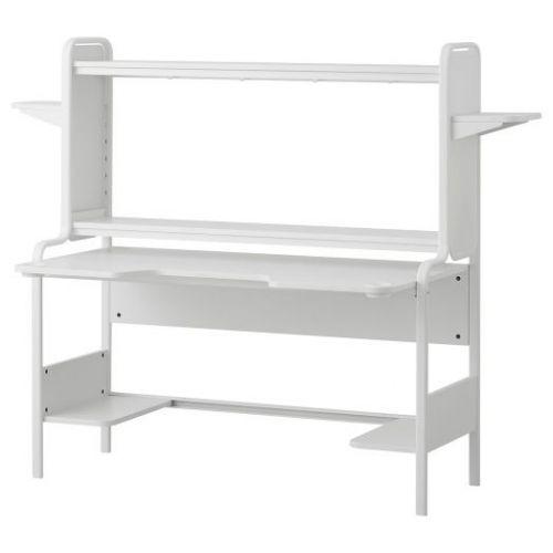 FREDDE ФРЕДДЕ, Письменный стол, белый, 140/185x74x146 см - 904.844.56
