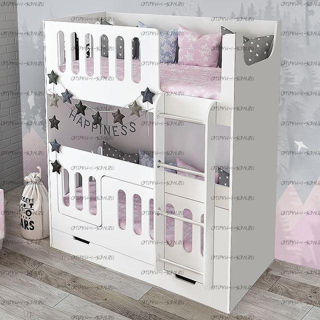 Кровать двухъярусная Сказка ДС-26