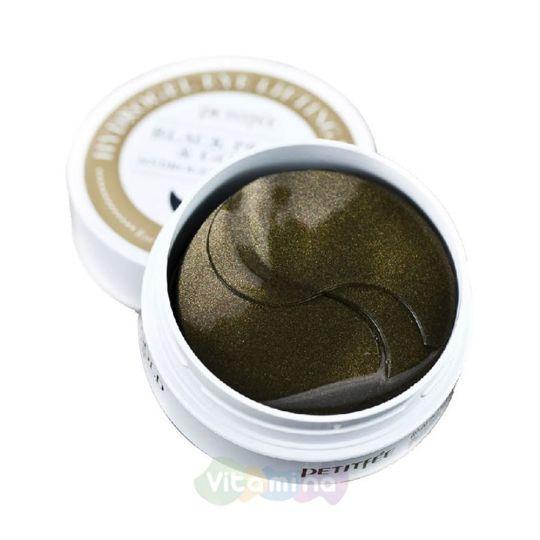 Petitfee Гидрогелевые патчи для век с чёрным жемчугом Black Pearl & Gold Hydrogel Eye Patch