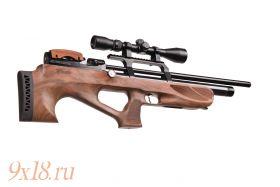 Винтовка пневматическая буллпап (bullpup) PCP Kuzey K 30 - Кузей К 30 калибр 6.35 мм, ореховое ложе