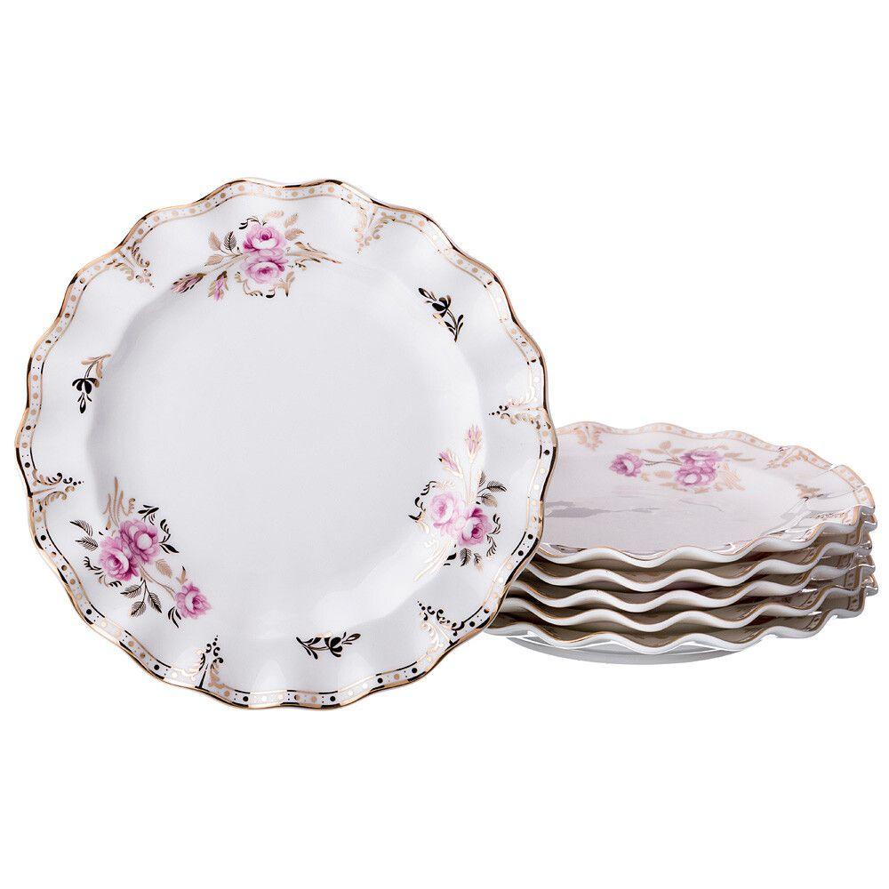 """Набор из 6 тарелок """"Завтрак у королевы"""""""
