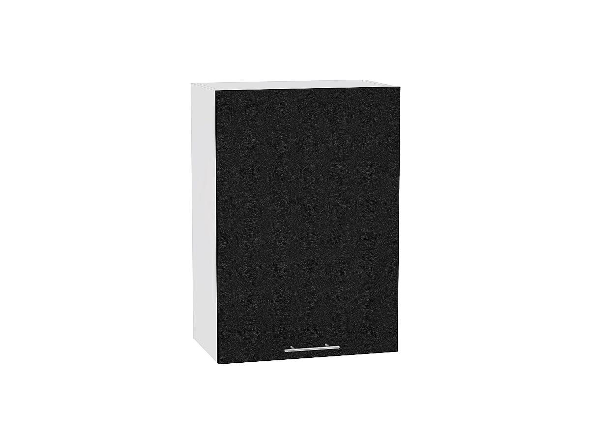 Шкаф верхний Валерия В600-Ф46 (чёрный металлик)