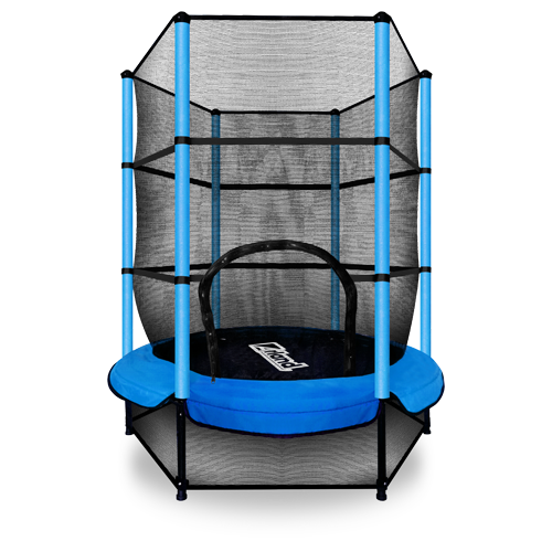Мини батут ARLAND с защитной сеткой (Blue)