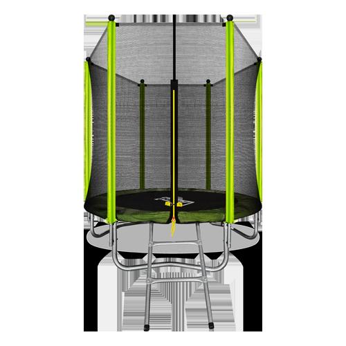 Батут Arland 6FT с внешней страховочной сеткой и лестницей (Light green)