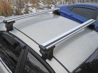 Багажник на крышу Lada Granta, Евродеталь, крыловидные дуги