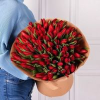 Тюльпаны 101 шт (красный)