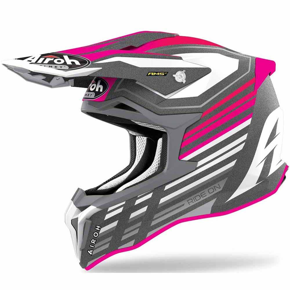 Airoh Strycker Pink Matt Shaded шлем для мотокросса и эндуро