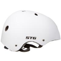 Шлем STG , модель MTV12, размер M(55-58)cm белый, с фикс застежкой